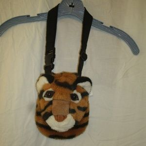 Girls Over the Shoulder Tiger Purse Pouch